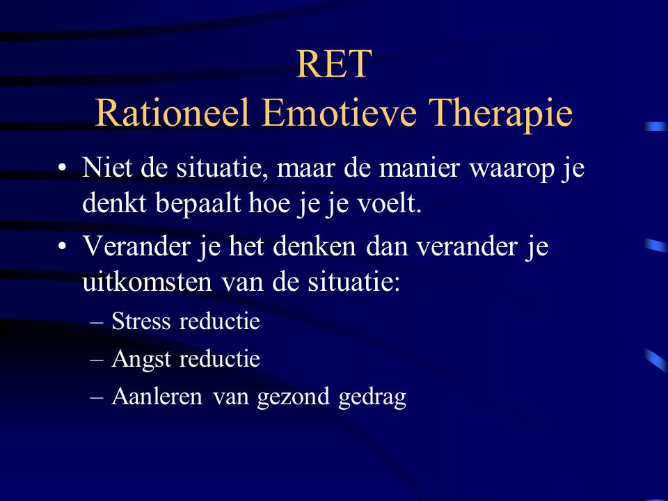 RET Rationeel Emotieve Therapie