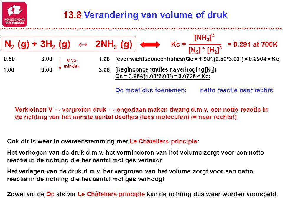 13.8 Verandering van volume of druk