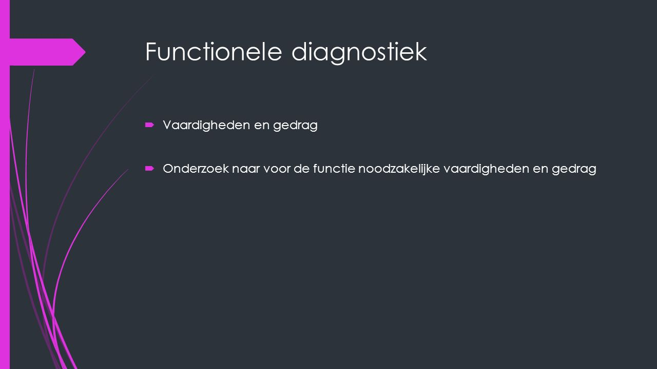 Functionele diagnostiek
