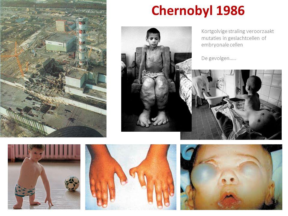 Chernobyl 1986 Kortgolvige straling veroorzaakt