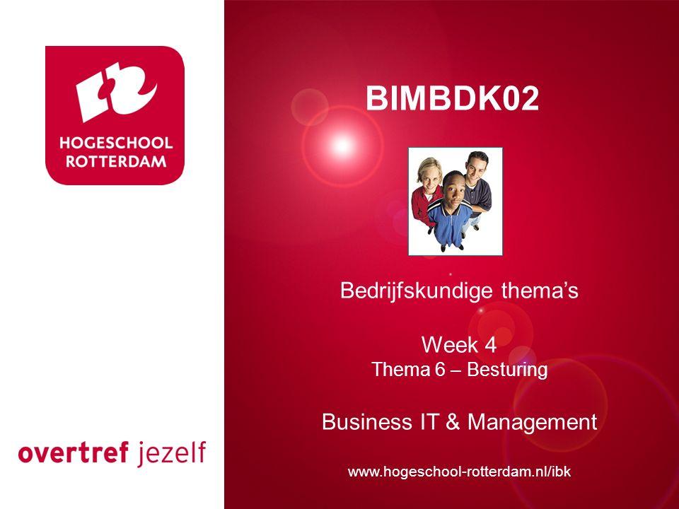 Presentatie titel BIMBDK02 Bedrijfskundige thema's Week 4
