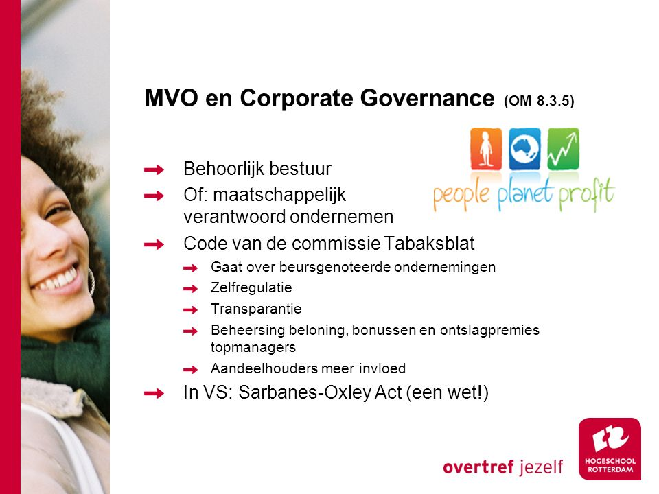 MVO en Corporate Governance (OM 8.3.5)