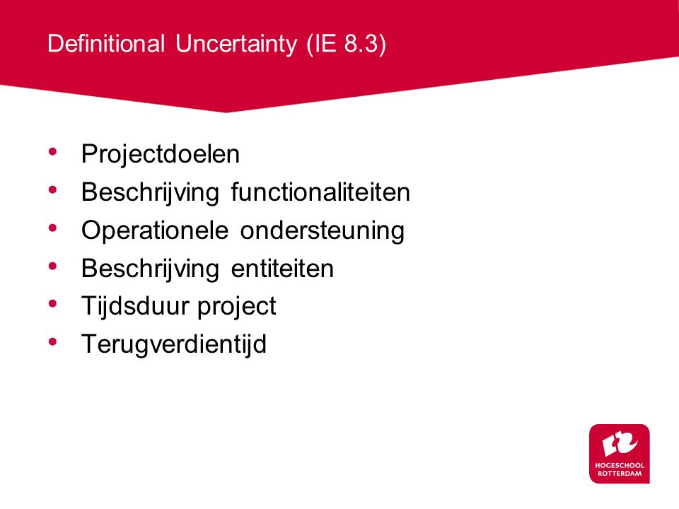 Definitional Uncertainty (IE 8.3)