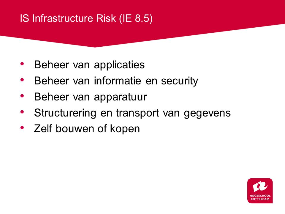 IS Infrastructure Risk (IE 8.5)