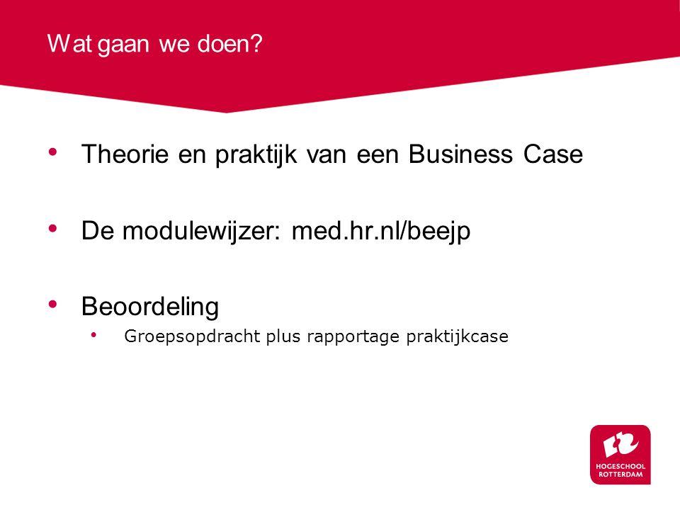 Theorie en praktijk van een Business Case