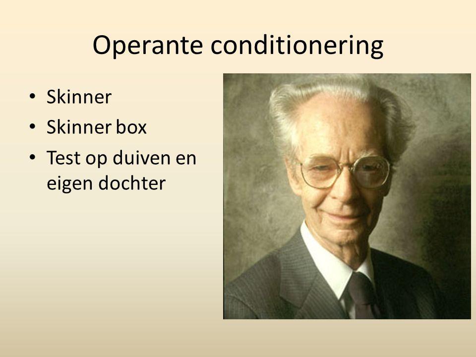 Operante conditionering
