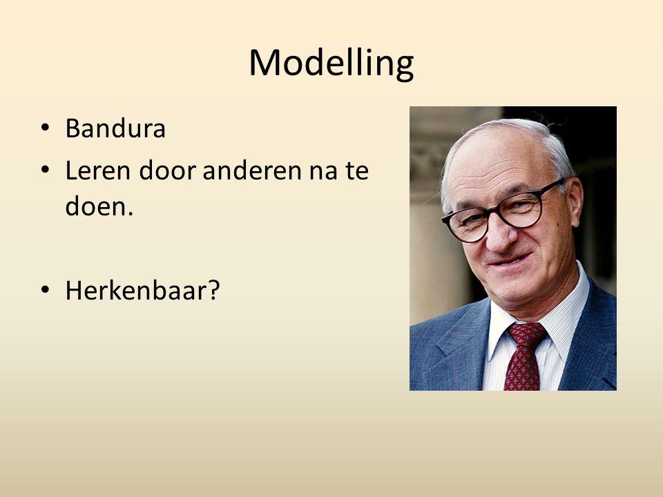 Modelling Bandura Leren door anderen na te doen. Herkenbaar