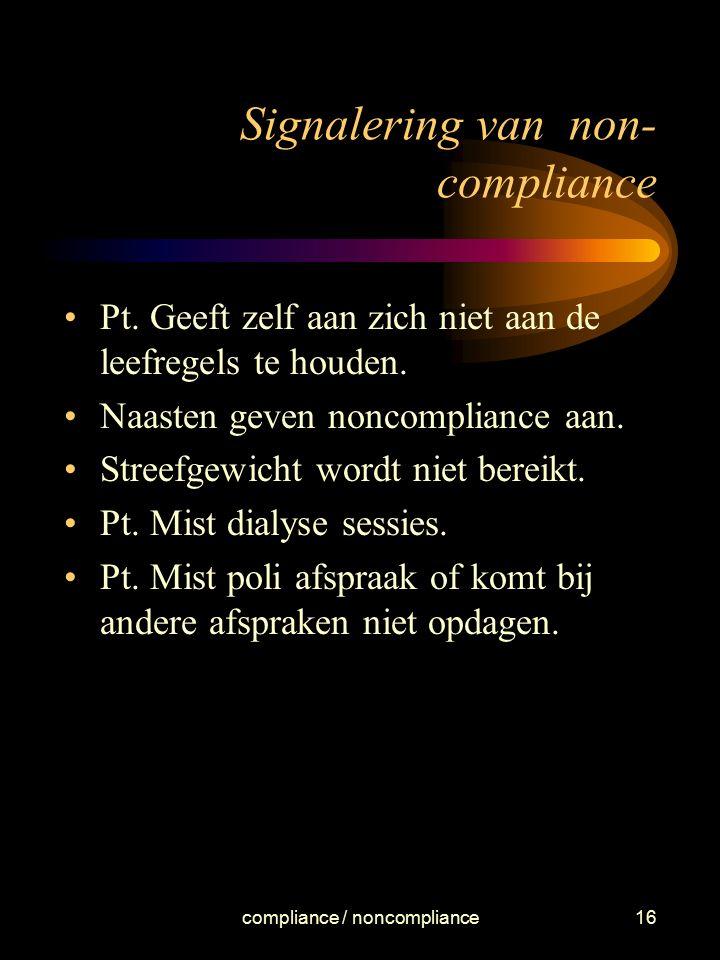 Signalering van non-compliance