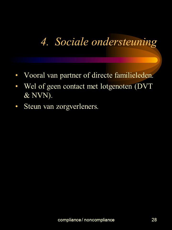 4. Sociale ondersteuning