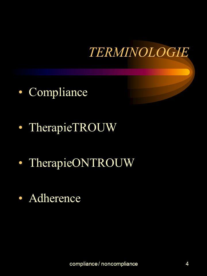 compliance / noncompliance