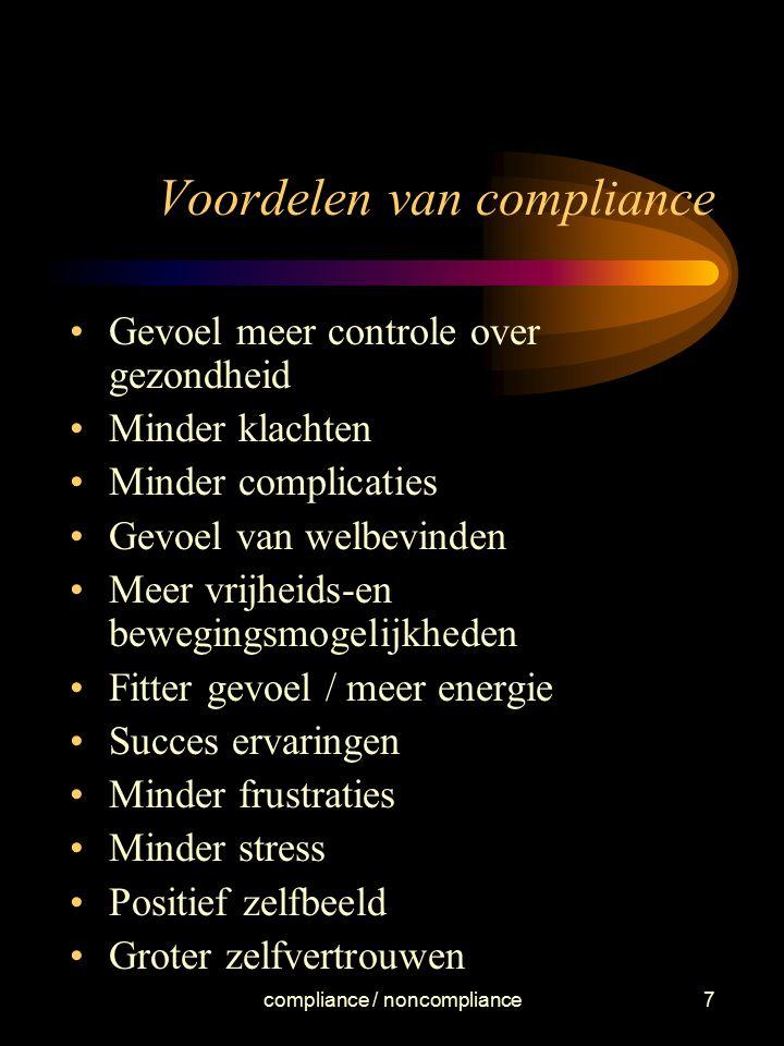 Voordelen van compliance