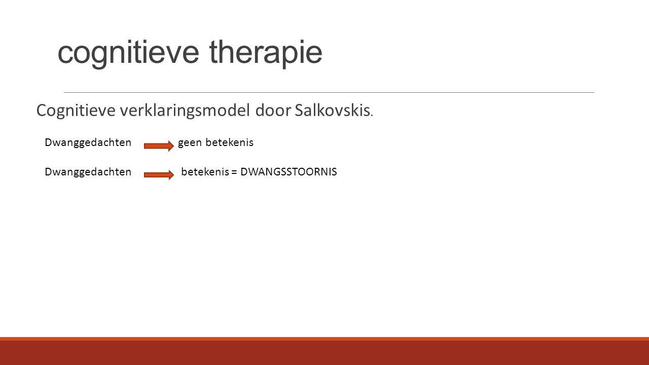 cognitieve therapie Cognitieve verklaringsmodel door Salkovskis.