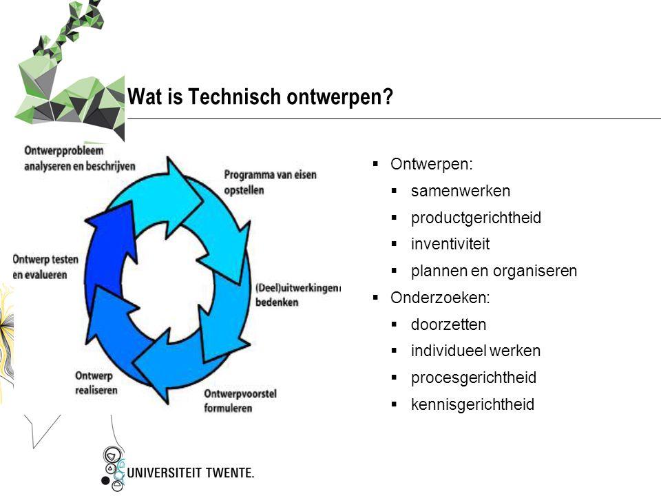 Wat is Technisch ontwerpen
