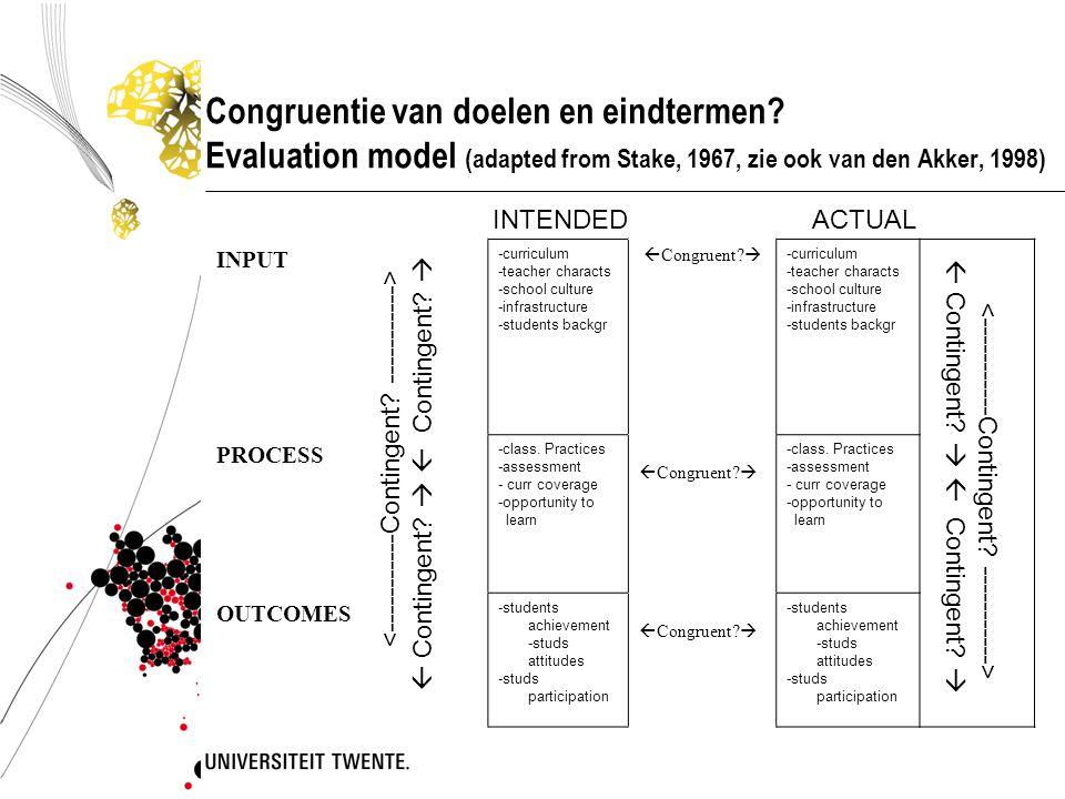 Congruentie van doelen en eindtermen