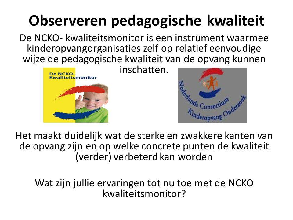Observeren pedagogische kwaliteit