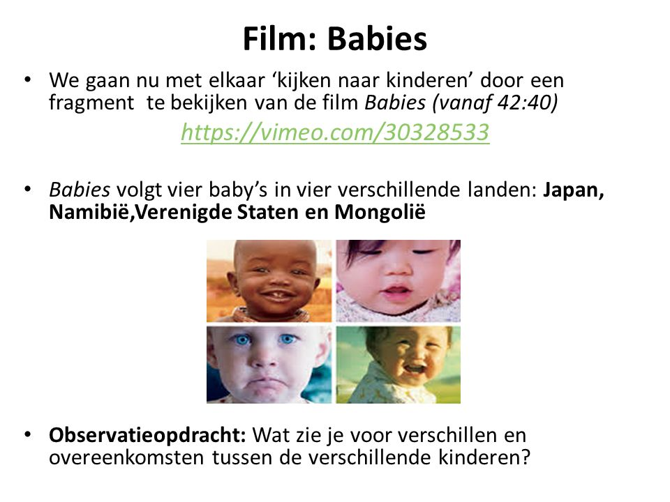 Film: Babies https://vimeo.com/30328533
