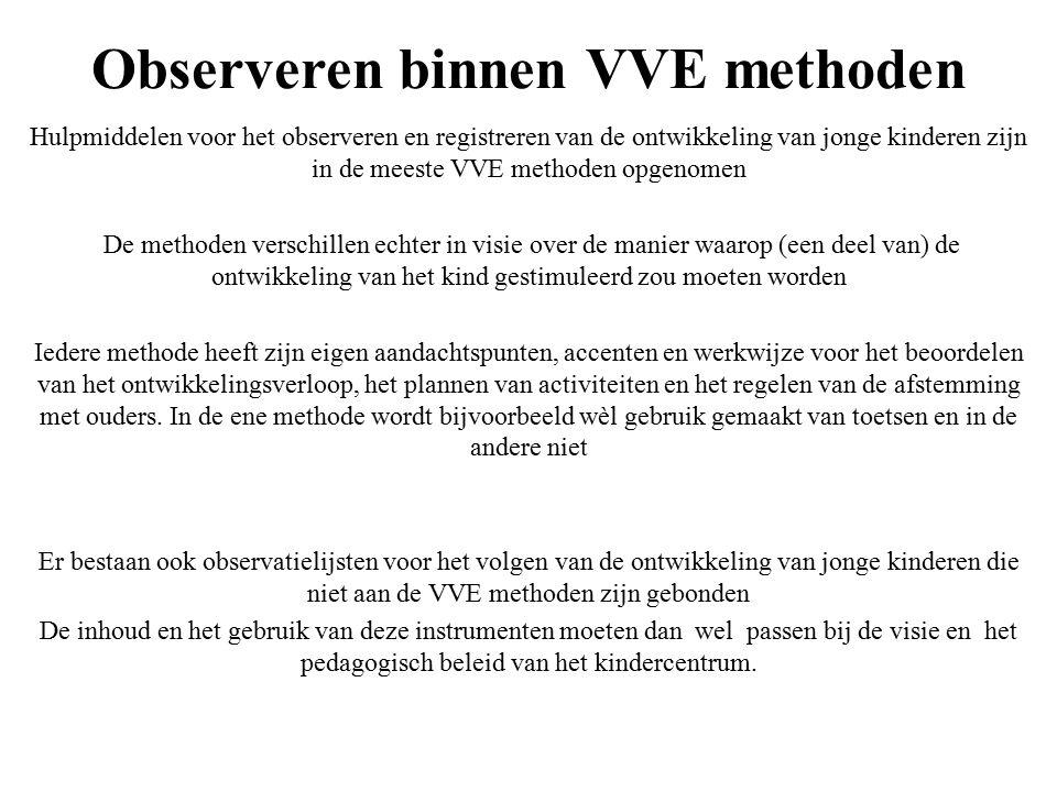 Observeren binnen VVE methoden