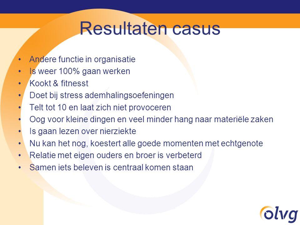 Resultaten casus Andere functie in organisatie