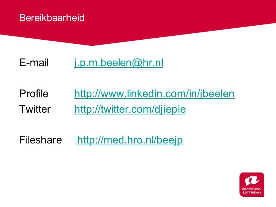 E-mail j.p.m.beelen@hr.nl Profile http://www.linkedin.com/in/jbeelen