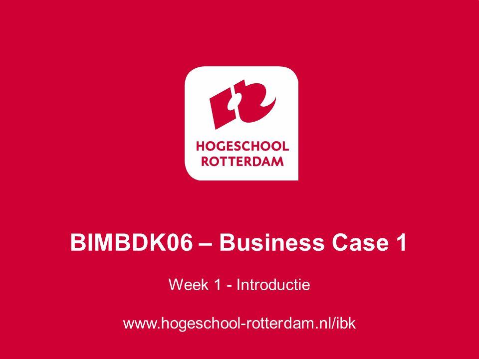 BIMBDK06 – Business Case 1 Week 1 - Introductie