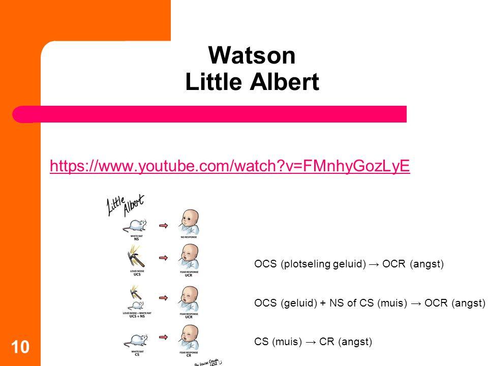 Watson Little Albert https://www.youtube.com/watch v=FMnhyGozLyE