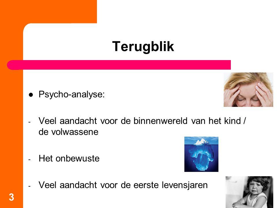Terugblik Psycho-analyse: