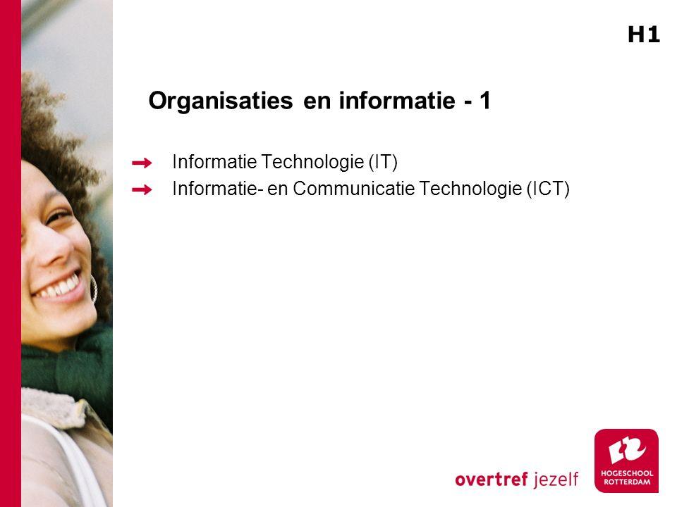 Organisaties en informatie - 1