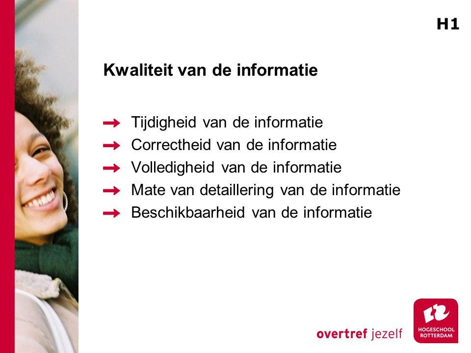 Kwaliteit van de informatie