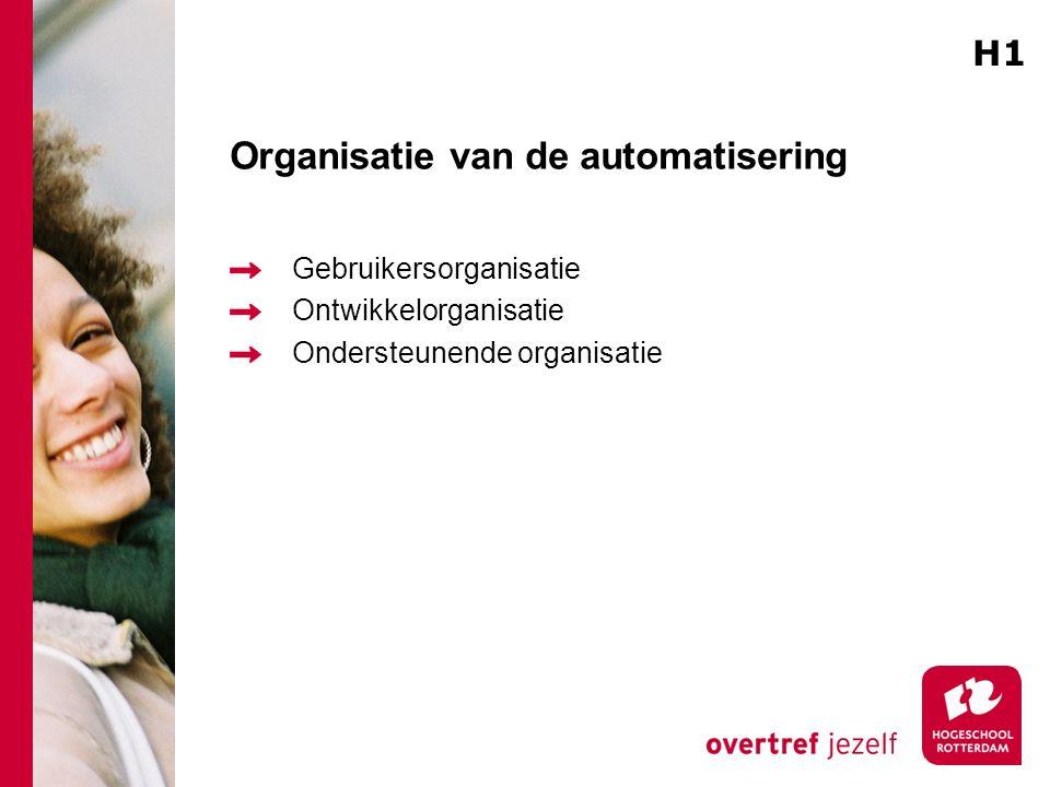 Organisatie van de automatisering