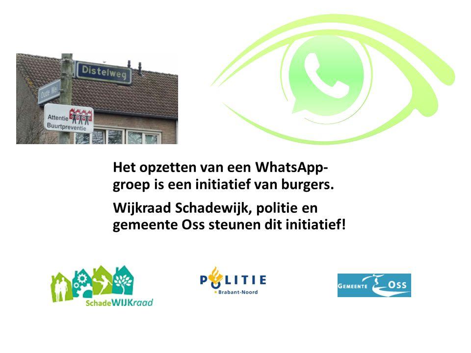 Het opzetten van een WhatsApp- groep is een initiatief van burgers.