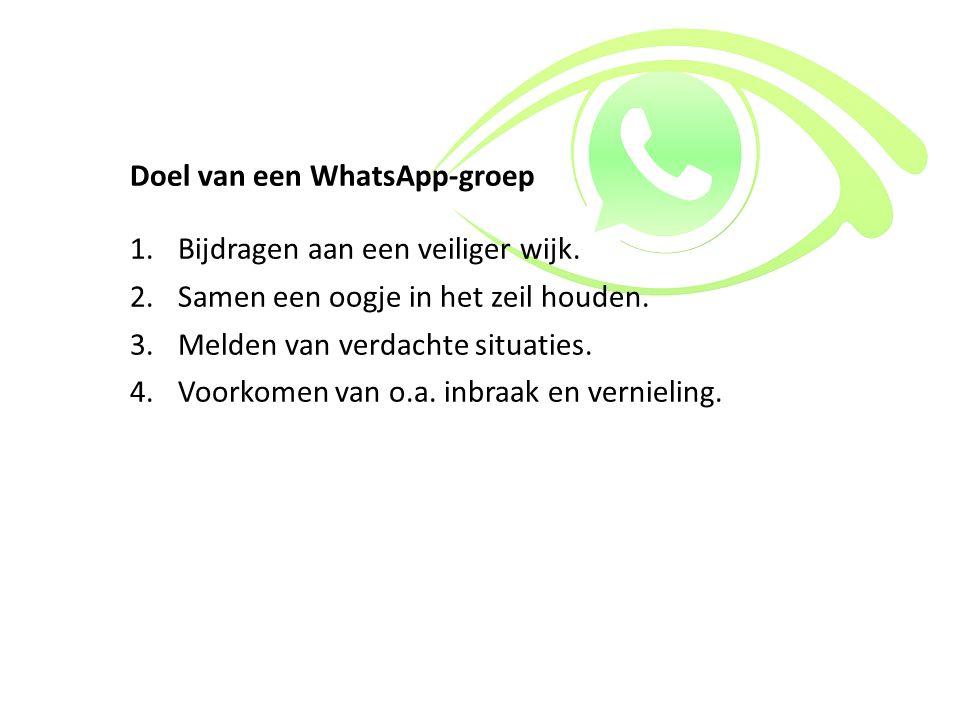 Doel van een WhatsApp-groep