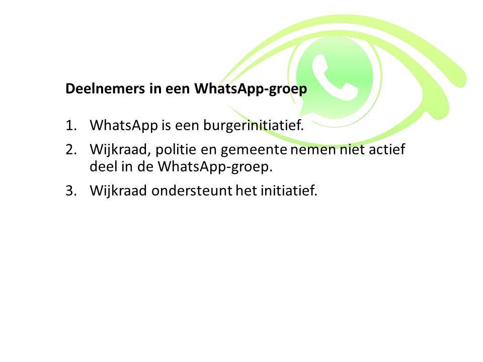 Deelnemers in een WhatsApp-groep
