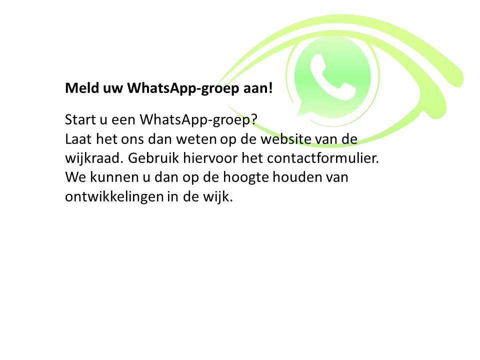 Meld uw WhatsApp-groep aan!