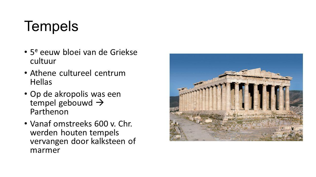 Tempels 5e eeuw bloei van de Griekse cultuur