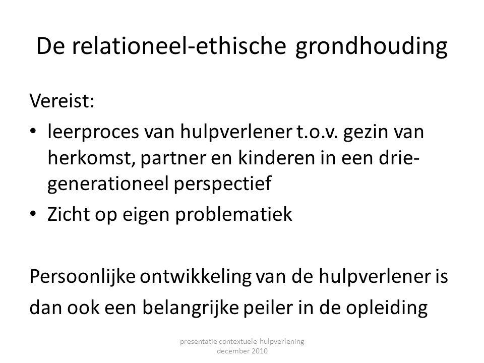 De relationeel-ethische grondhouding