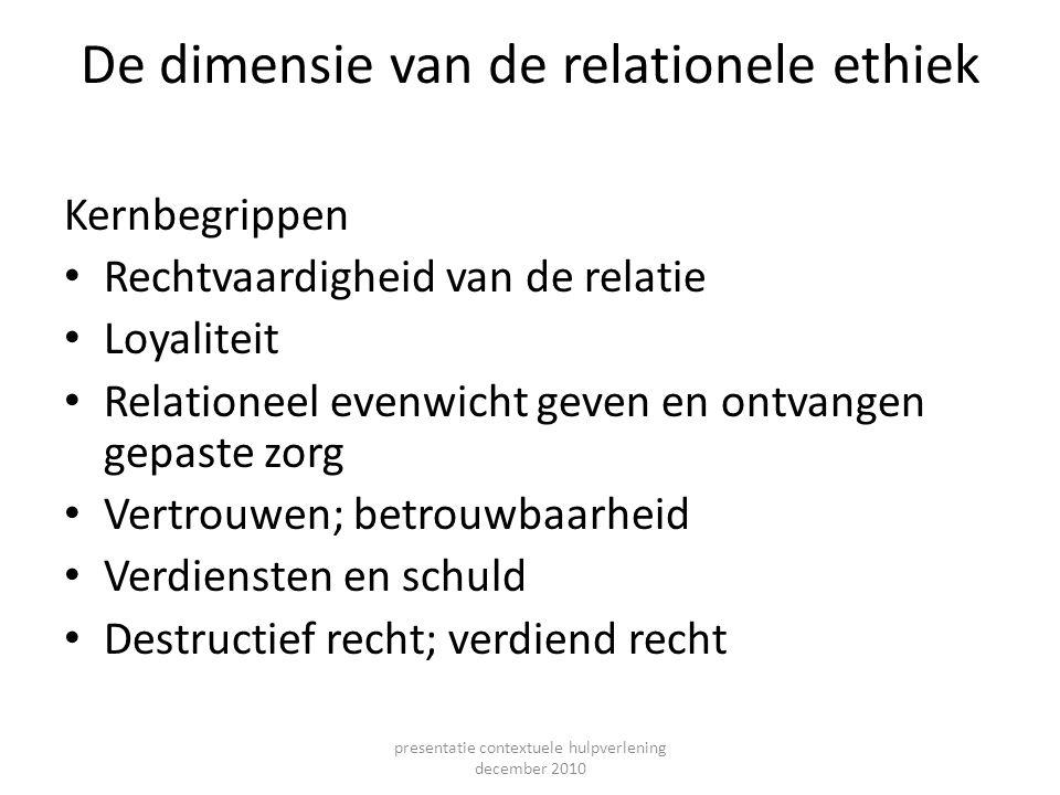De dimensie van de relationele ethiek