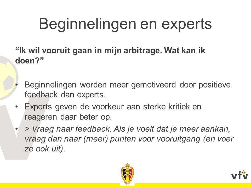 Beginnelingen en experts