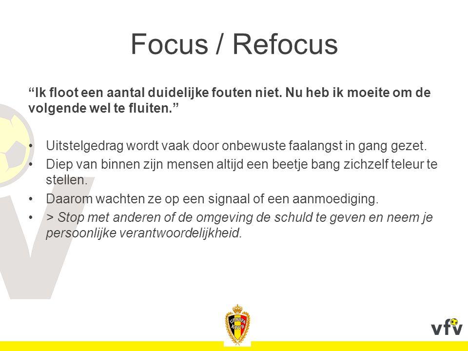 Focus / Refocus Ik floot een aantal duidelijke fouten niet. Nu heb ik moeite om de volgende wel te fluiten.