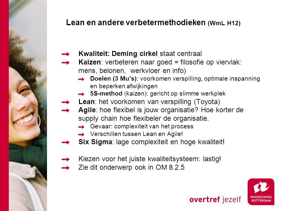 Lean en andere verbetermethodieken (WmL H12)