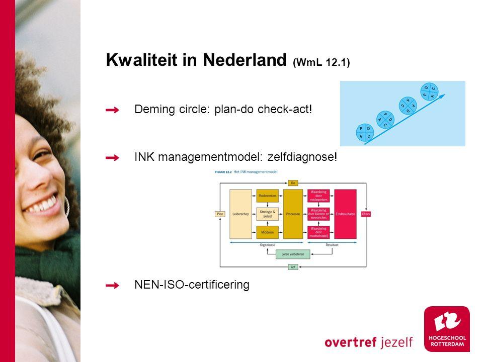 Kwaliteit in Nederland (WmL 12.1)