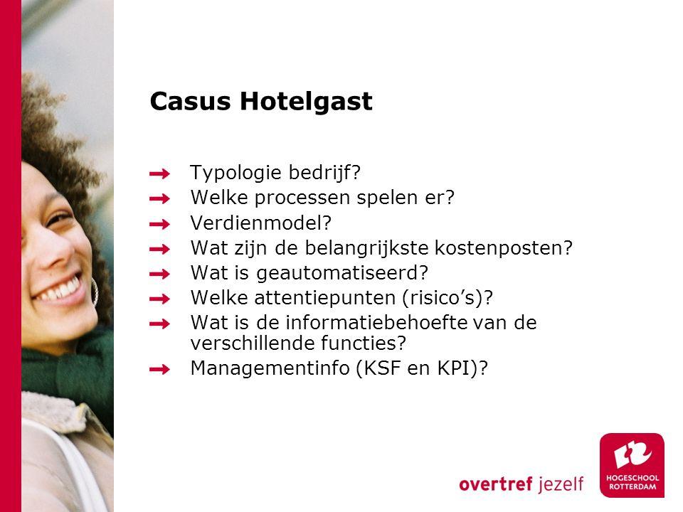Casus Hotelgast Typologie bedrijf Welke processen spelen er