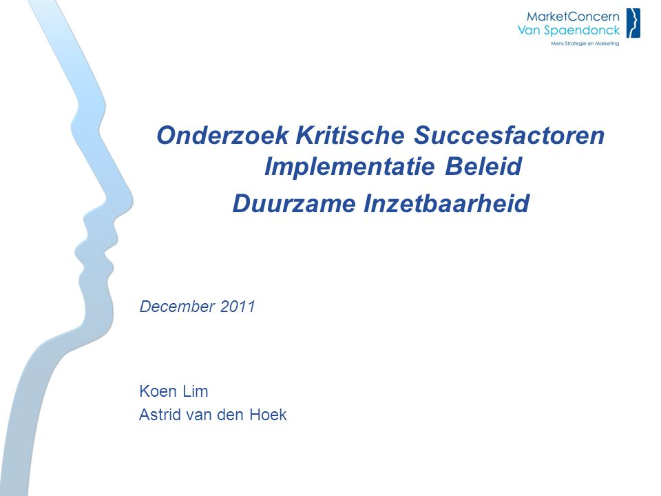 Onderzoek Kritische Succesfactoren Implementatie Beleid