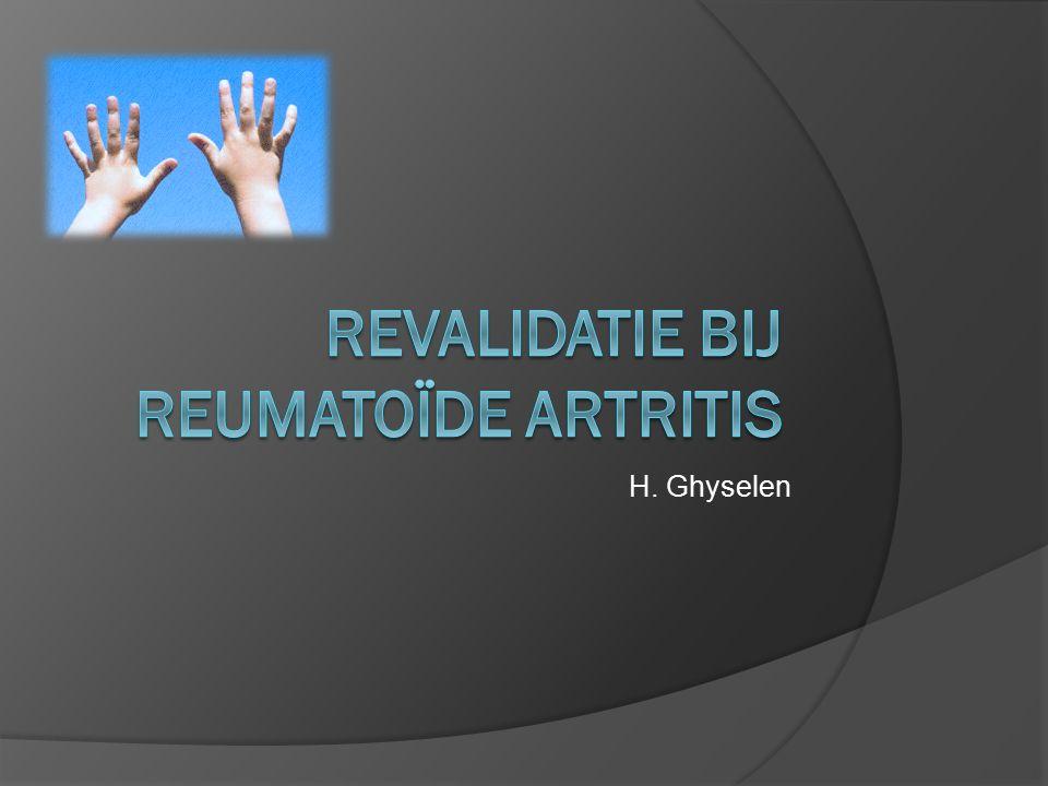 Revalidatie bij reumatoïde artritis