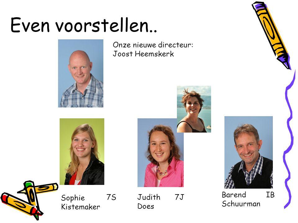 Even voorstellen.. Onze nieuwe directeur: Joost Heemskerk Barend