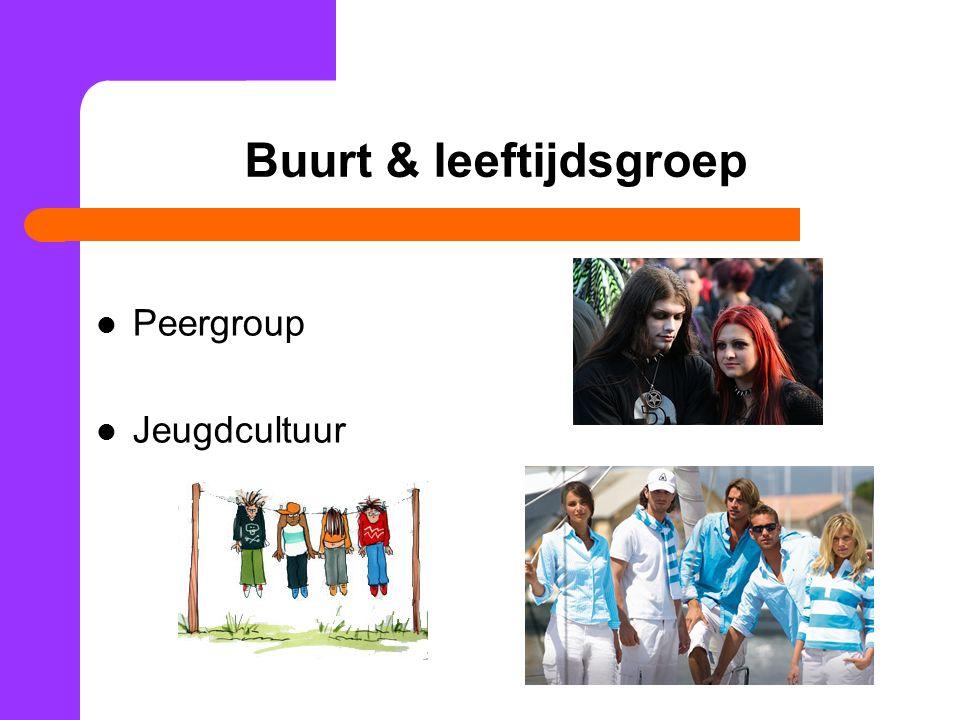 Buurt & leeftijdsgroep