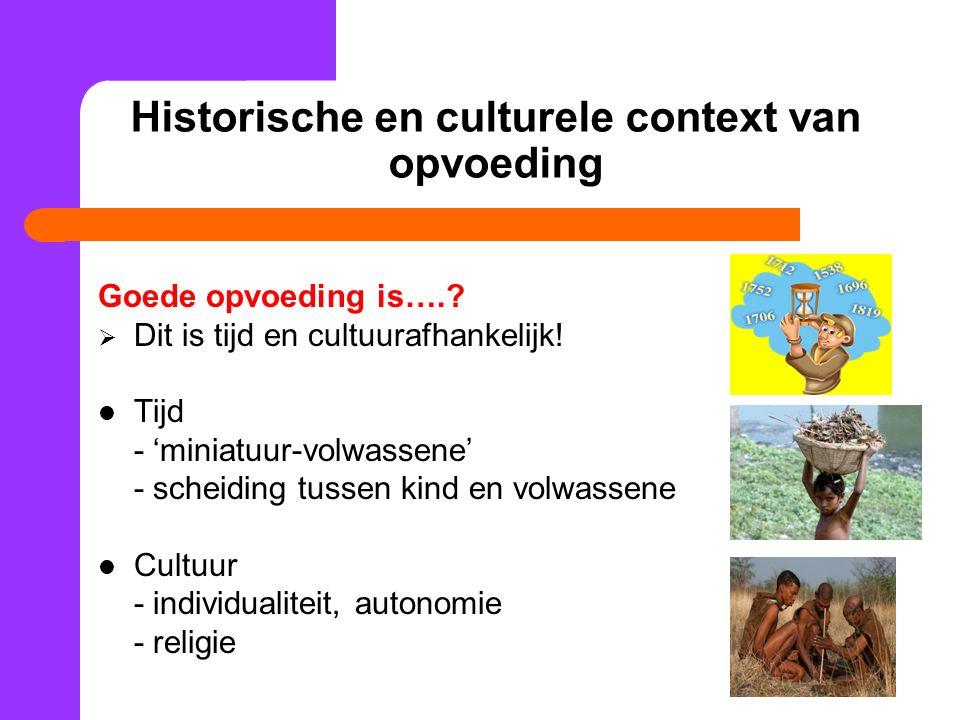 Historische en culturele context van opvoeding