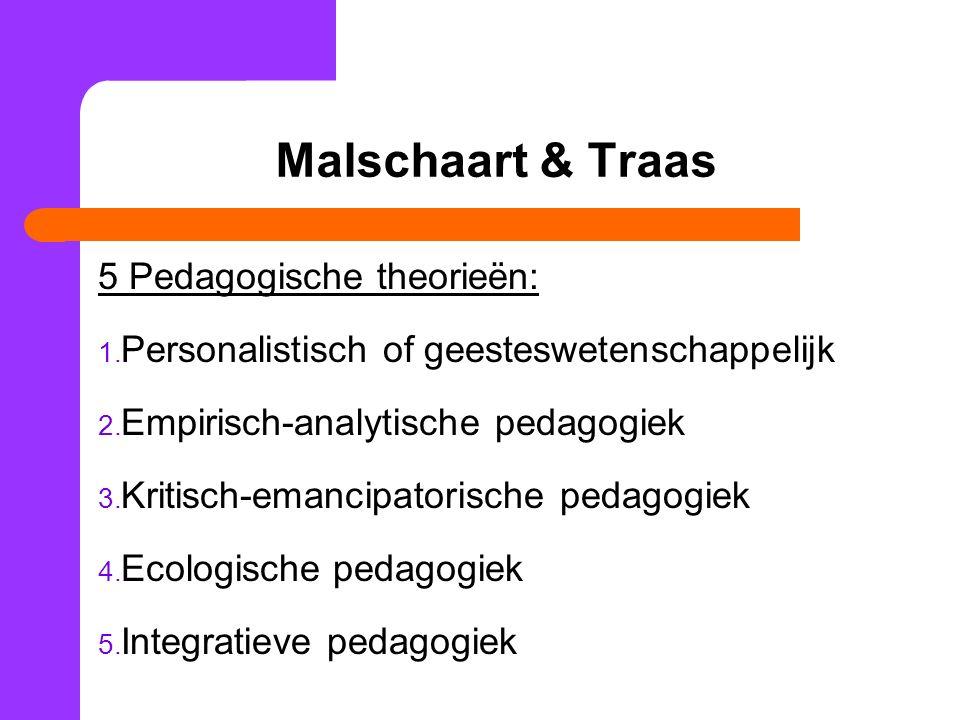 Malschaart & Traas 5 Pedagogische theorieën: