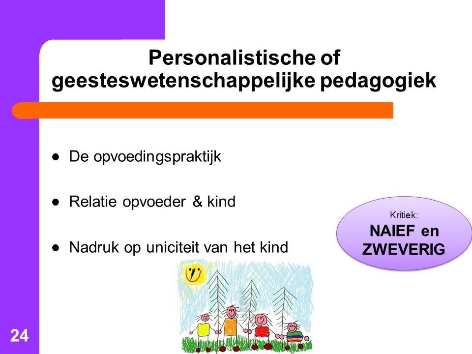 Personalistische of geesteswetenschappelijke pedagogiek