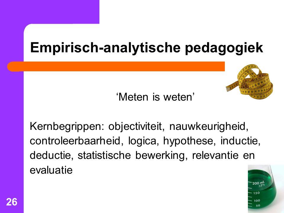 Empirisch-analytische pedagogiek