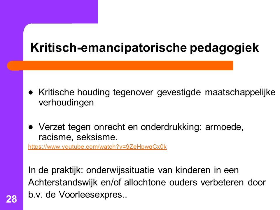 Kritisch-emancipatorische pedagogiek